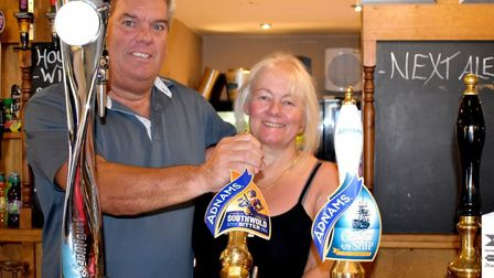 Jeff and Patrcia Fry have celebrated a year behind the bar. Picture: Admiral Taverns