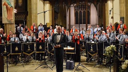 Tom's standing ovation following the Spring Concert in St. Mary's. Picture: RAF Honington