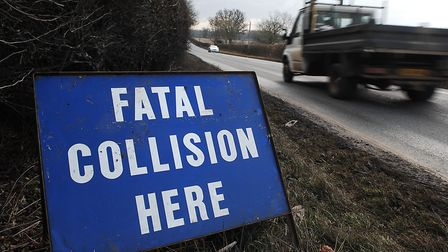 A Norfolk rural road has seen a number of serious crashes in the past five years. Picture: Chris B
