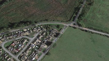 A motorcyclist was left with serious injuries following a crash near Weeting on Sunday. Photo: Googl