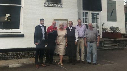 The Thetford Business Awards judges. Pictured from left to right are: Jeff Ward, from Centurion Safe