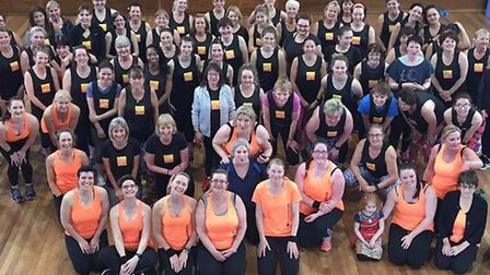 About 100 people took part in the three hour workout at Charles Burrell Centre in Thetford. Picture: