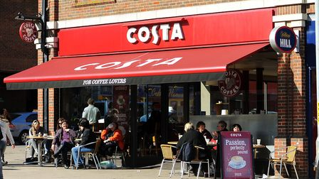 A Costa Coffee shop. Picture: James Bass