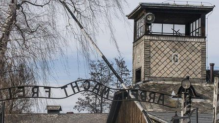 A guard tower at Auschwitz. Picture: Luca Chadwick