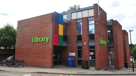 A man was knocked unconscious outside Thetford Library. PHOTO: Nick Butcher