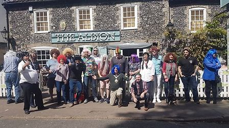 More than £1,300 was raised at the Wear a Wig For Mark event at The Albion pub. Picture: Mark Lowthe