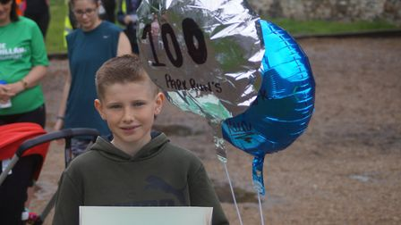 Jake Palfrey has become the youngest runner to complete 100 parkruns. Picture: Naomi Palfrey