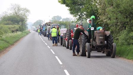 The Methwold Tractor Run in aid of Macmillan Cancer Support raised more than £3,000. Picture: Vincen