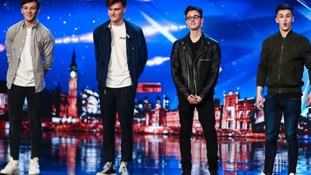 Thetford magician James Samuel (far right) performing with 4MG on Britain's Got Talent. Picture: Dym