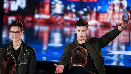 Thetford magician James Samuel performing for judge David Walliams on Britain's Got Talent. Picture: