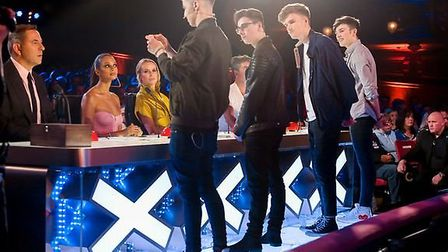 Thetford magician James Samuel performing with 4MG on Britain's Got Talent. Picture: Dymond/Thames/S