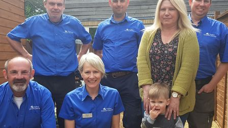The team from Thetford Garden Centre with Jenny Brown and her grandson, Freddie. Picture: Archant
