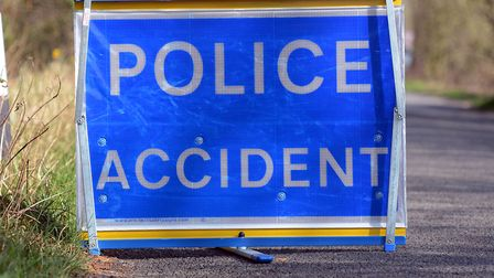 A motorcyclist sustained serious injuries after a crash on the A11. Picture: Matthew Usher.