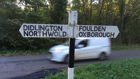 The Foulden Road, near Didlington, where Luke Ware died in a collision between his 4x4 vehicle and a