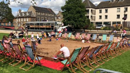 The Thetford seaside at the green at Thetford Riverside Complex. Picture: The Lively Crew