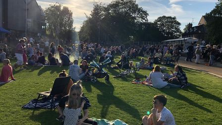 Hundreds came to celebrate the start of the On the Green season in Thetford. Picture: The Lively Cre