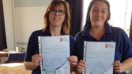 Emily Davis and Donna Wenham-Barber have been able to receive first aider training with Full Steam A