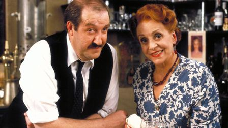 Undated handout photo issued by the BBC of Edith and Rene from Second World War sitcom 'Allo 'Allo.