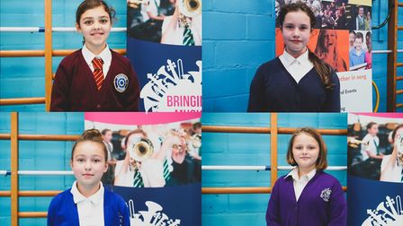 From left clockwise: Catalina Estanol, from Admirals Academy, Alicja Jagodzik, from Drake Primary, M