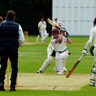 Action from Sprowston A's four wicket win over Swardeston CEYMS A in Division Five of the Norfolk Al