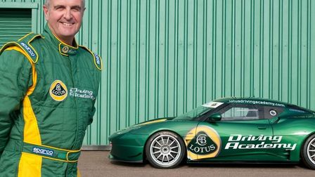 Martin Donnelly, chief driving instructor for the driving academy at Lotus, and ex-F1 driver for the