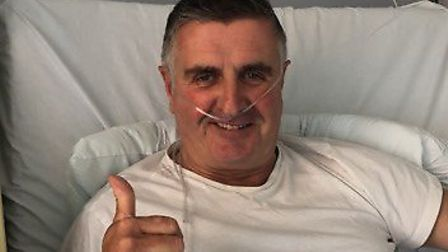 Martin Donnelly is recovering in hospital after breaking his leg. Picture: Jonathan Lewis
