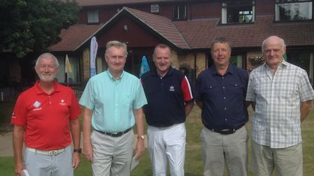 Pictured are the winning team of the Seniors Am-Am competition Graham Vandervord, Paul Sandfield, To