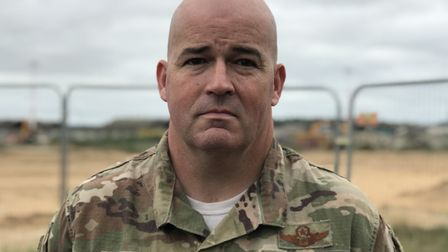 Colonel Will Marshall, commander of the 48th Fighter Wing at RAF Lakenheath. Picture: Neil Didsbury
