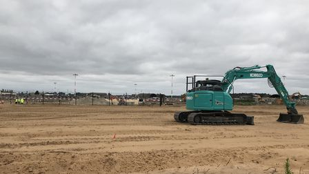 Work has started on buildings that will be home to two U.S. Air Force F-35 squadrons at RAF Lakenhea