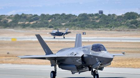 54 US Air Force F-35s will be stationed at RAF Lakenheath. Picture: Jacob King/PA Wire