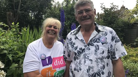 Suzanne and Tim Norman who have opened their garden for theThetford open gardens. Picture: Ella Wilk