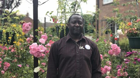 Ola babatunde has opened his garden for theTheford open gardens. Picture: Ella Wilkinson