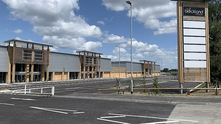 Breckland Retail Park in Thetford has finished construction. Picture: Urban Edge Architecture