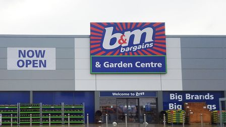The front of a B&M store. Picture: B&M