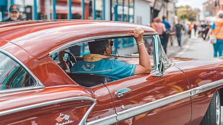 Vintage American cars will be travelling from Norwich to Thetford.Picture: GARETH GABRIEL