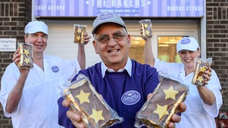 From left, Iain Cobb, Paul Brandon and Stella Towell from Smiths the Bakers, were involved in making