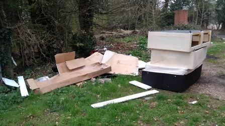 Illegally dumped waste at Kilverstone that led to a Thetford man being fined. Picture: Breckland Cou