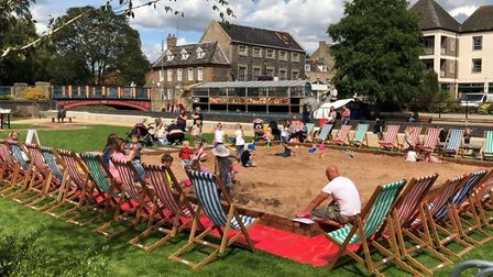The beach will be returning to the Thetford Riverside Complex. Picture: The Lively Crew