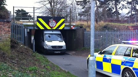 Vehicles getting stuck is so common the community has suggested setting up a picnic at the bridge. T