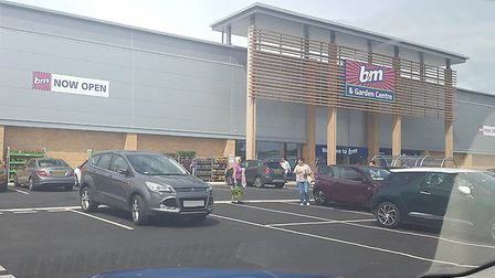A confused driver at Breckland Retail Park who parked on a junction outside B&M. Photo: submitted