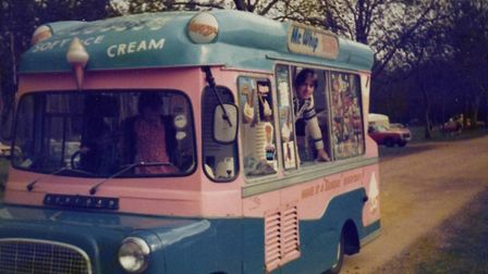 Brian Sanders from Brian and Martin Ices selling ice cream in one of his vans. Picture: Brian Sander