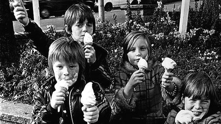 Brian's children used to help on his vans to earn extra pocket money. Picture: Brian Sanders