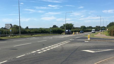The junction of Mundford Road and Croxton Road in Thetford where Cliffy James was killed. Photo: Emi