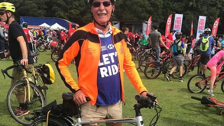 Brian Jackson is cycling 2019 miles to raise awareness of MND. Picture: MNDA