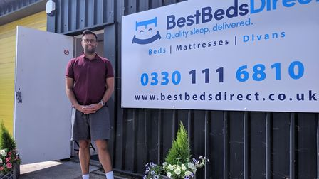 Hassan Mhamood has opened his first store Best Beds Direct in Thetford. Picture: Marc Betts