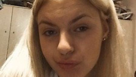 Paige Harper was left with a slit lip and scratches after the attack. Picture: Paige Harper