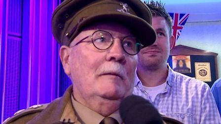 Mick Whitman from Dad's Army Museum Thetford appearing on The One Show. Picture: BBC