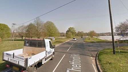 Thetford Road is set to close for six nights of work. Picture: Google