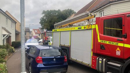 Emergency services attended a gas leak in Chalk Close, Thetford. Picture: Breckland Police