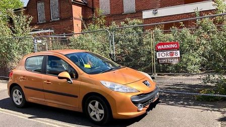 Mia Arthur received a parking ticket after parking in front of the former Thetford Cottage Hospital.